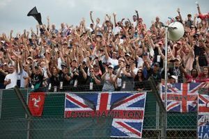 Fans of Lewis Hamilton, Mercedes AMG F1, cheer