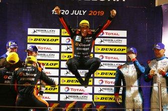 Podium: race winner #26 G-Drive Racing Aurus 01 Gibson: Roman Rusinov