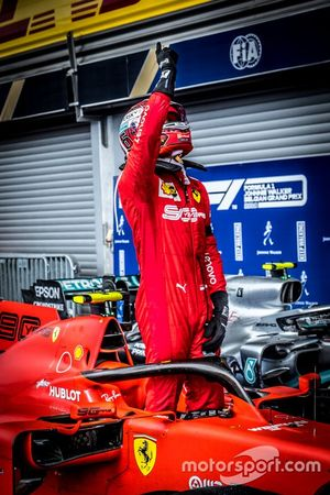 Il vincitore della gara Charles Leclerc, Ferrari