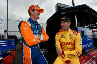 Scott Dixon, Chip Ganassi Racing Honda, Ryan Hunter-Reay, Andretti Autosport Honda