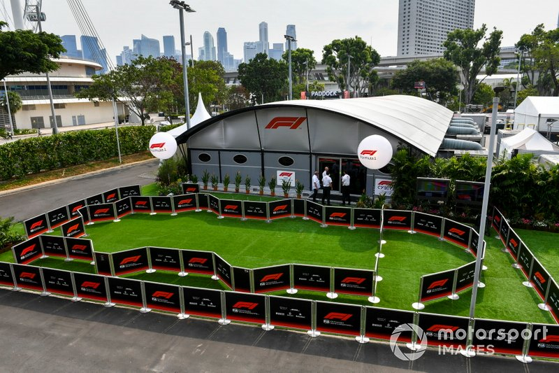 Formula 1 Management building in the paddock