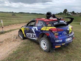 Kacper Wróblewski, Jacek Spentany, Hyundai i20 R5, Rally Elektrenai, RSMP