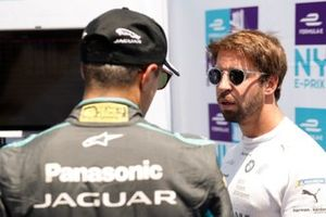 Antonio Felix da Costa, BMW I Andretti Motorsports talks with Mitch Evans, Panasonic Jaguar Racing