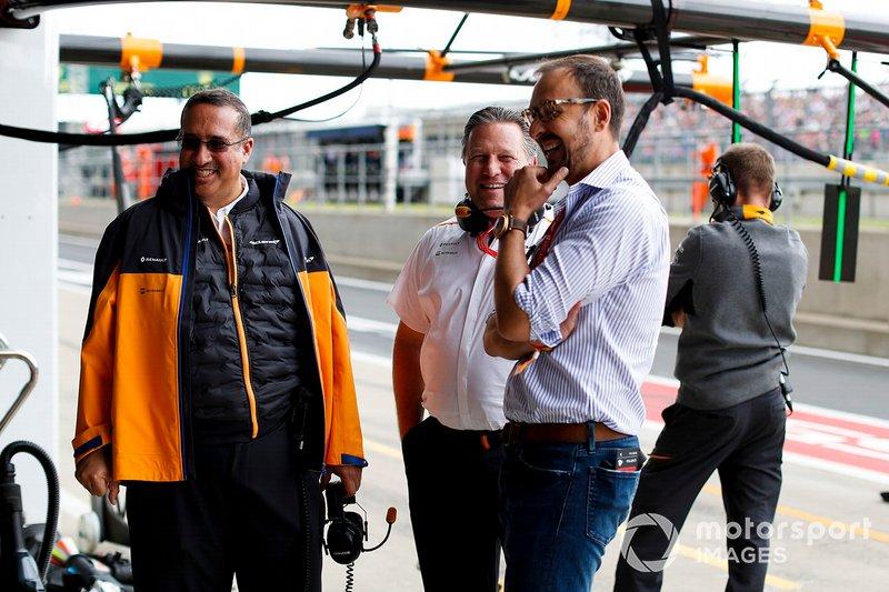 Sheikh Mohammed, bin Essa Al Khalifa, Executive Chairman, McLaren, and Zak Brown, Executive Director, McLaren
