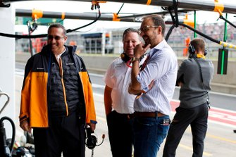 Sheikh Mohammed, bin Essa Al Khalifa, Executive Chairman, McLaren, and Zak Brown, Executive Director, McLaren