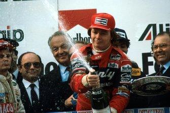 Race winner Didier Pironi, Ferrari