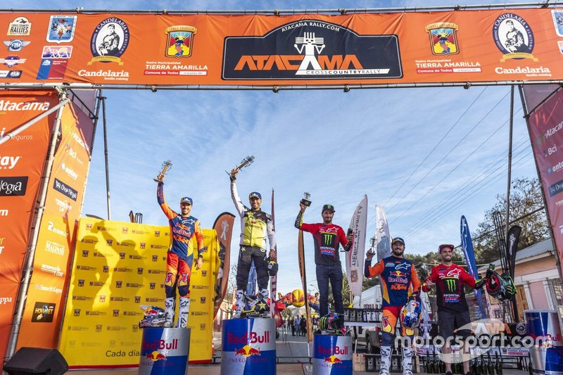 Podio final del Rally Atacama 2019