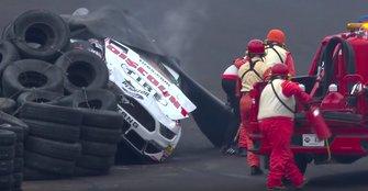 Brad Keselowski crash