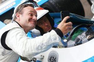 Ruben Barrichello, and Sir Jackie Stewart asleep