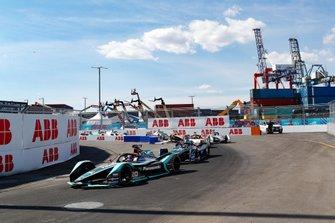 Mitch Evans, Panasonic Jaguar Racing, Jaguar I-Type 3, Gary Paffett, HWA Racelab, VFE-05, Lucas Di Grassi, Audi Sport ABT Schaeffler, Audi e-tron FE05