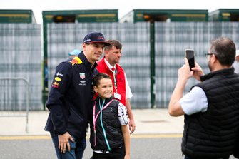 Max Verstappen, Red Bull Racing takes a selfie with a fan