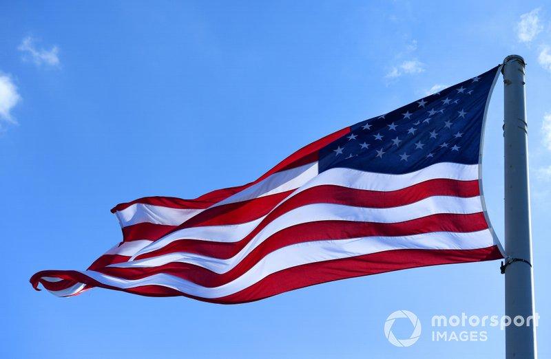 La bandiera Americana al New York City E-prix II