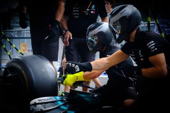 Mercedes AMG F1 pitstopoefening