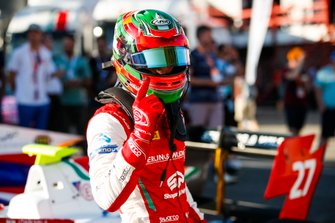Jehan Daruvala.PREMA Racing, celebrates taking pole position