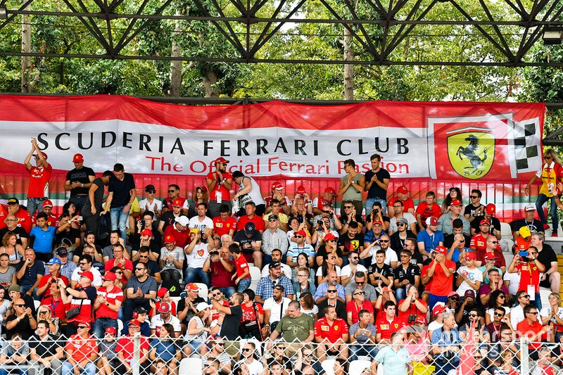 The Scuderia Ferrari Club grandstand