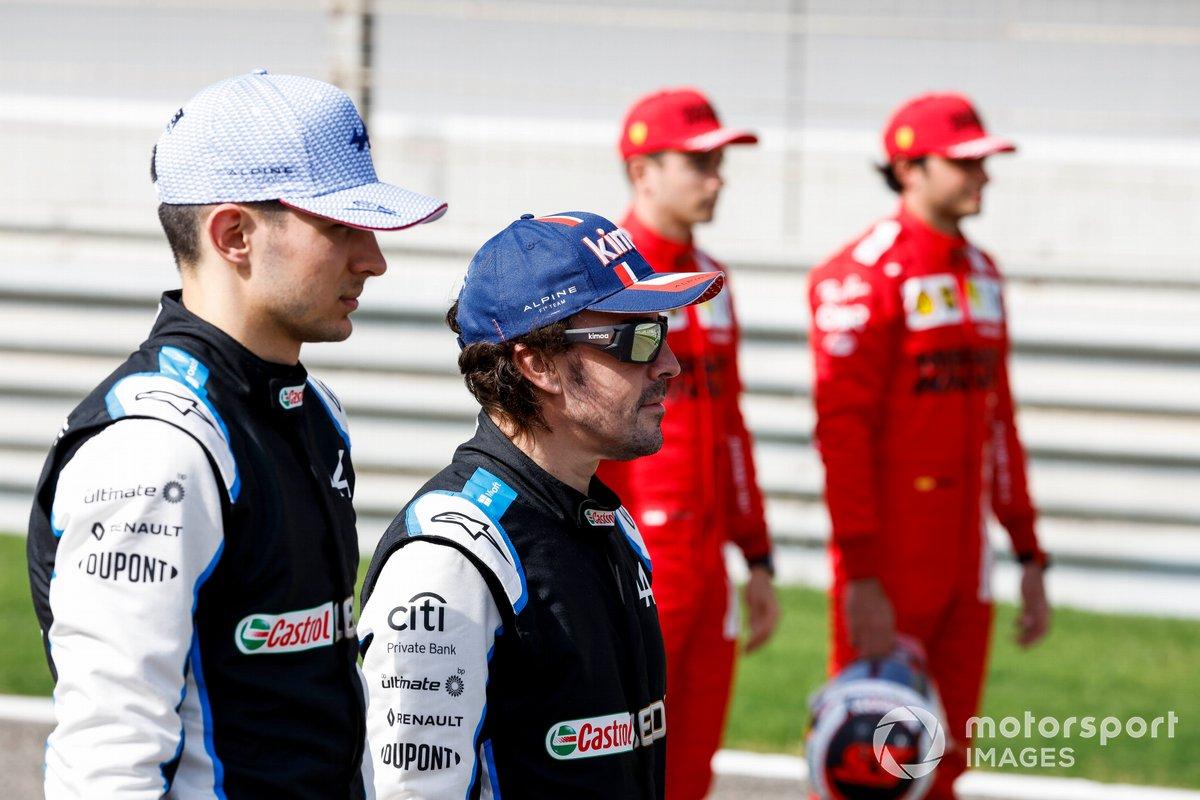 Esteban Ocon, Alpine F1 y Fernando Alonso, Alpine F1