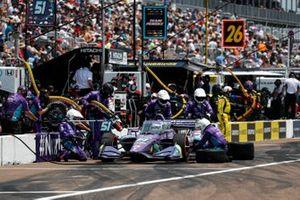 Pit Stop, Romain Grosjean, Dale Coyne Racing with RWR Honda