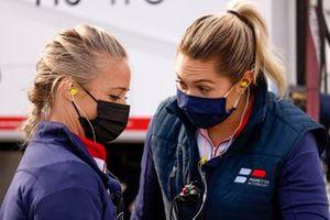 Paretta Autosport Chevrolet crew members