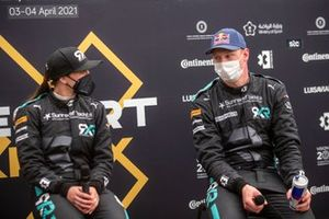 Molly Taylor, Rosberg X Racing, and Johan Kristoffersson, Rosberg X Racing, in the press conference
