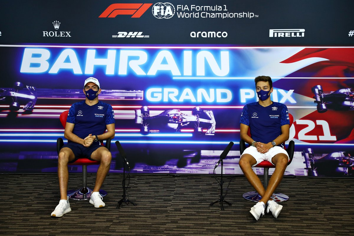 Nicholas Latifi, Williams, George Russell, Williams en la conferencia de prensa