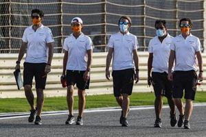 Lando Norris, McLaren, tijdens de track walk