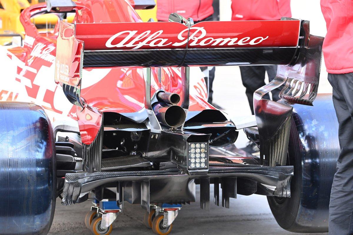 Detalhe do difusor do C39 da Alfa Romeo