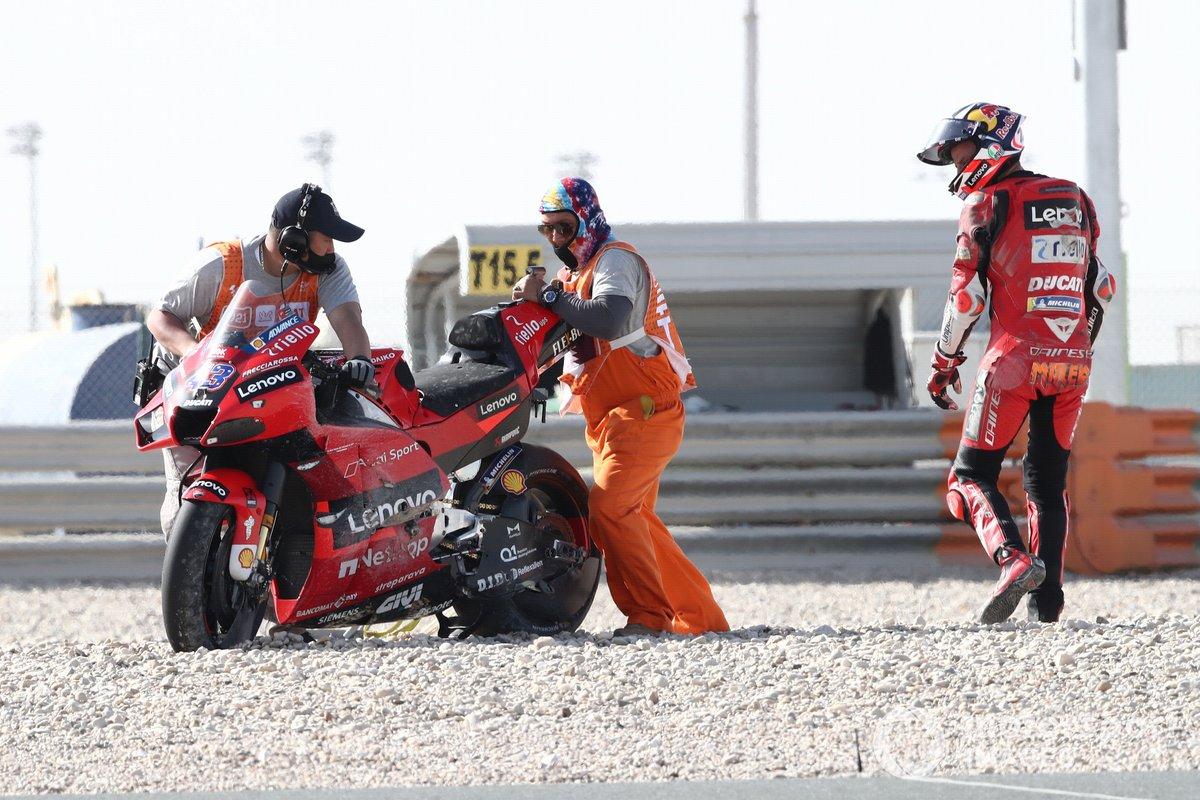 La chute de Jack Miller, Ducati Team