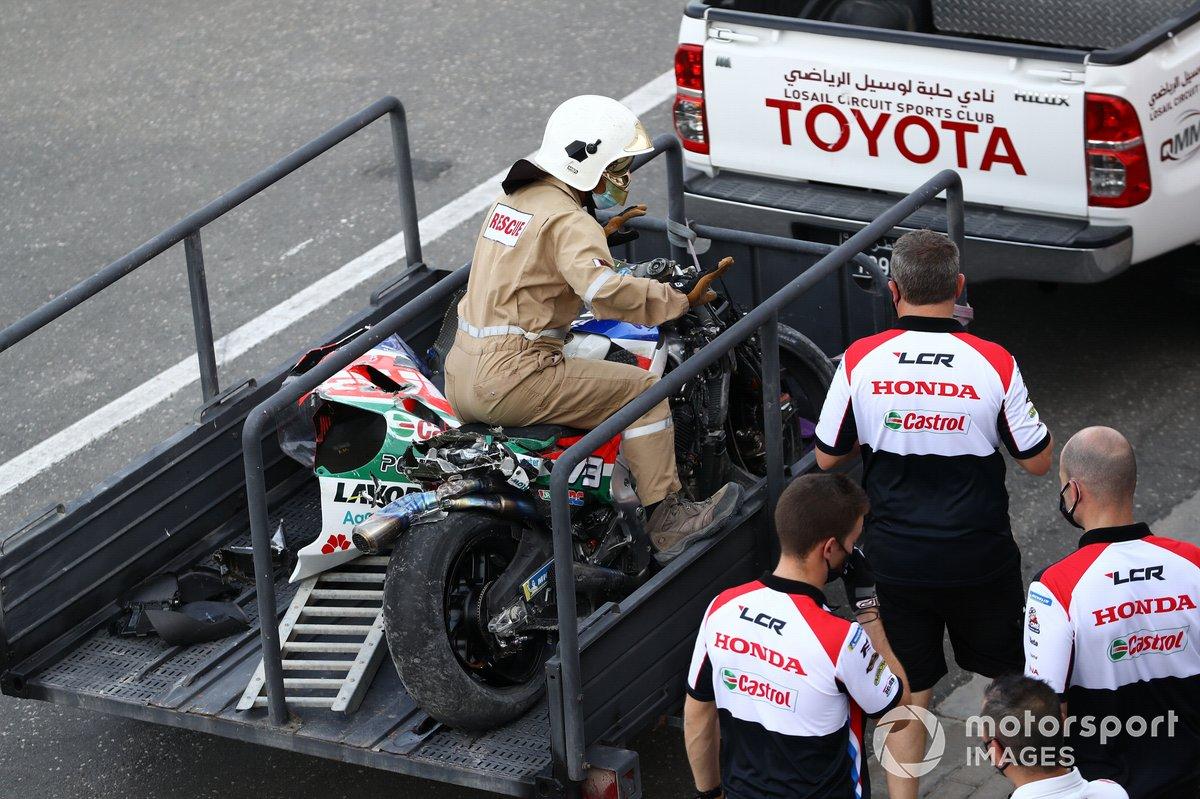 La Honda LCR d'Alex Marquez après son crash