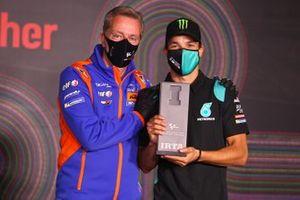 Franco Morbidelli, Petronas Yamaha SRT met Herve Poncharal, IRTA President