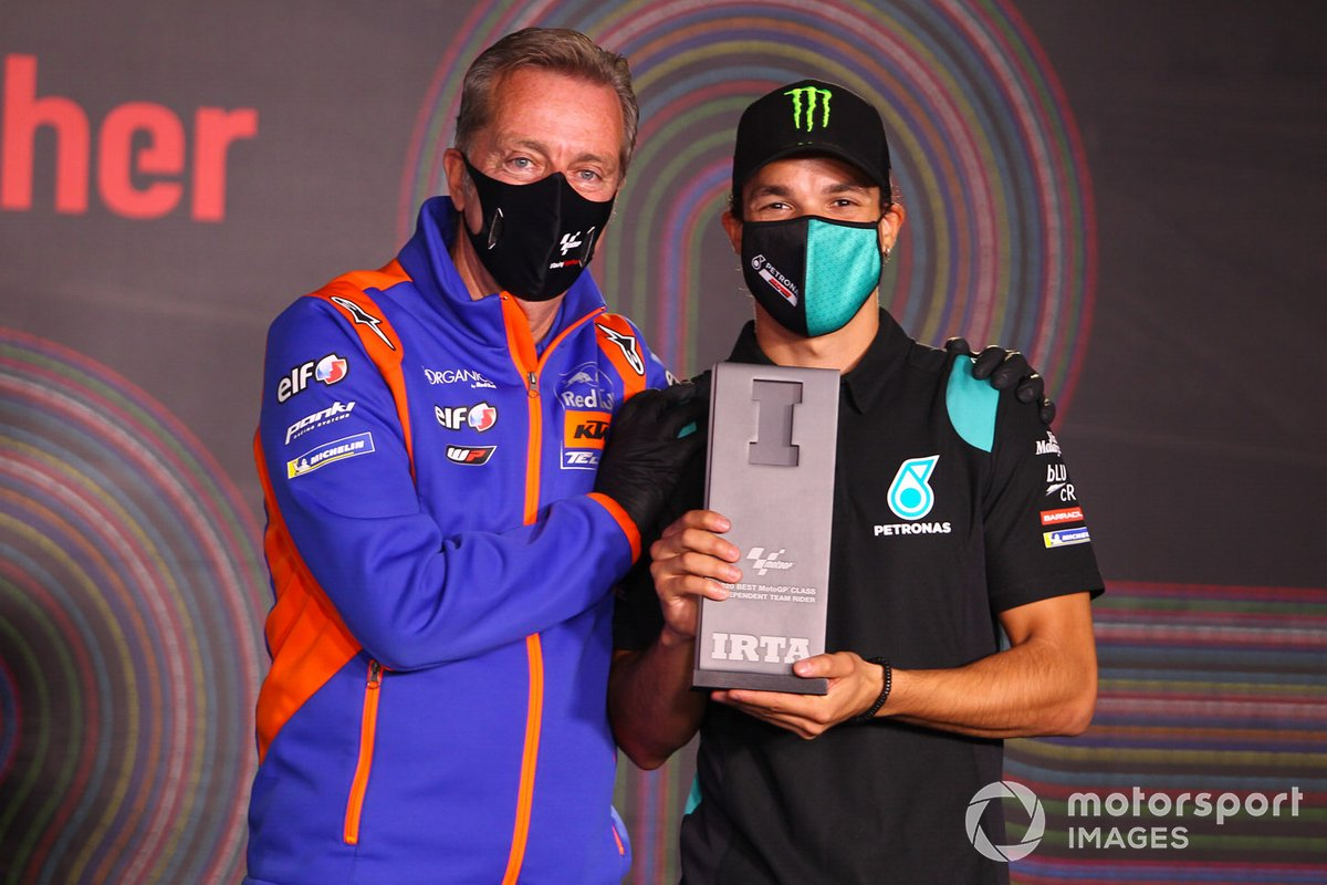 Franco Morbidelli, Petronas Yamaha SRT con Herve Poncharal, presidente del IRTA