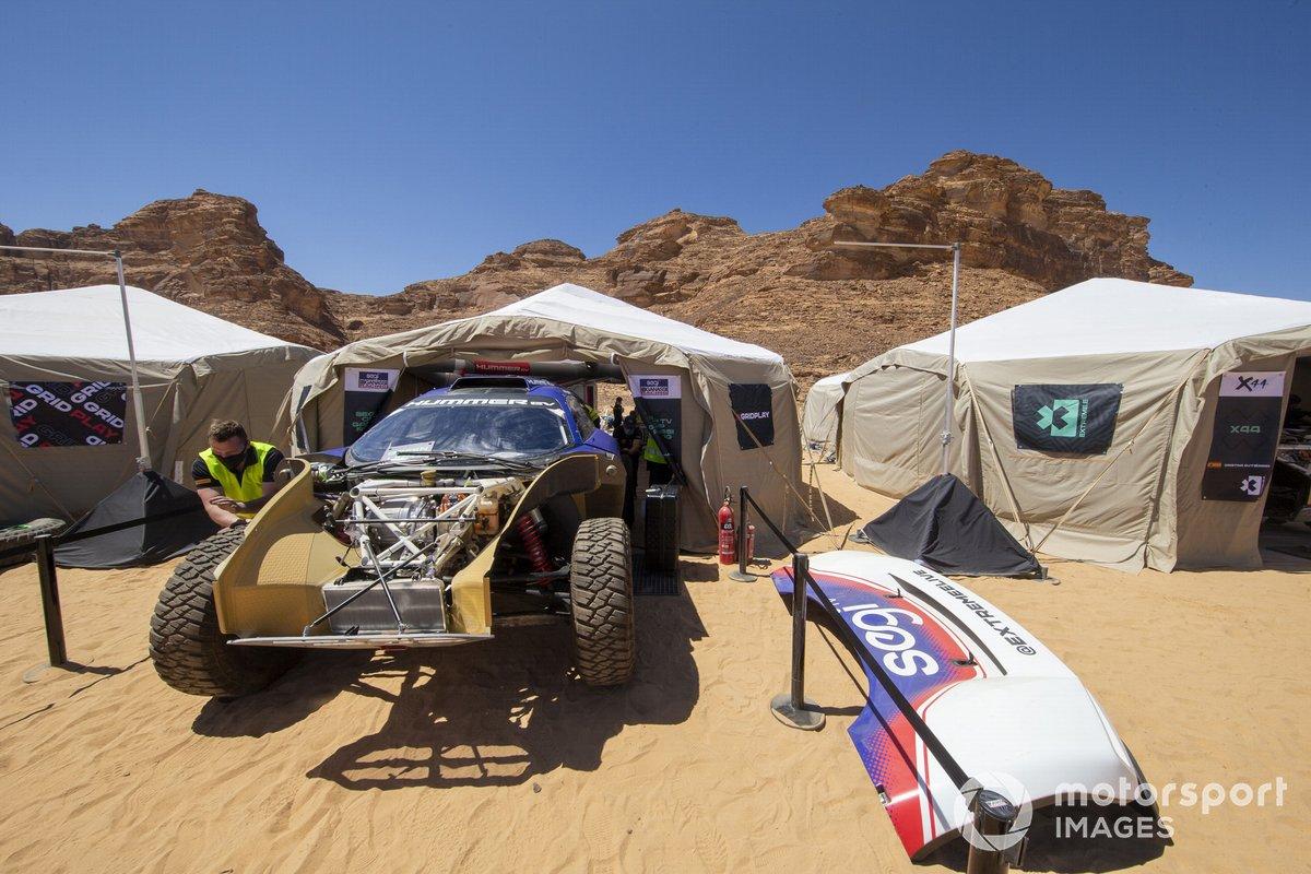 La Odyssey 21 de Segi TV Chip Ganassi Racing fuera de boxes