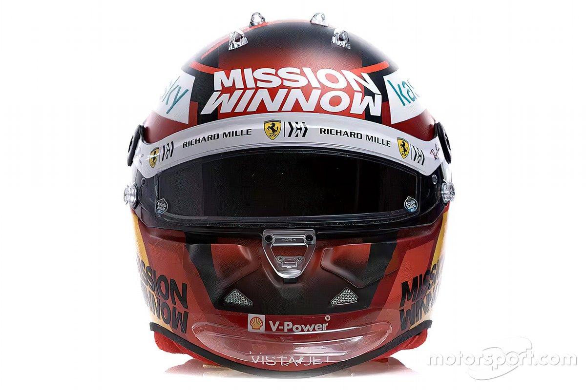 Il casco di Carlos Sainz Jr., Ferrari