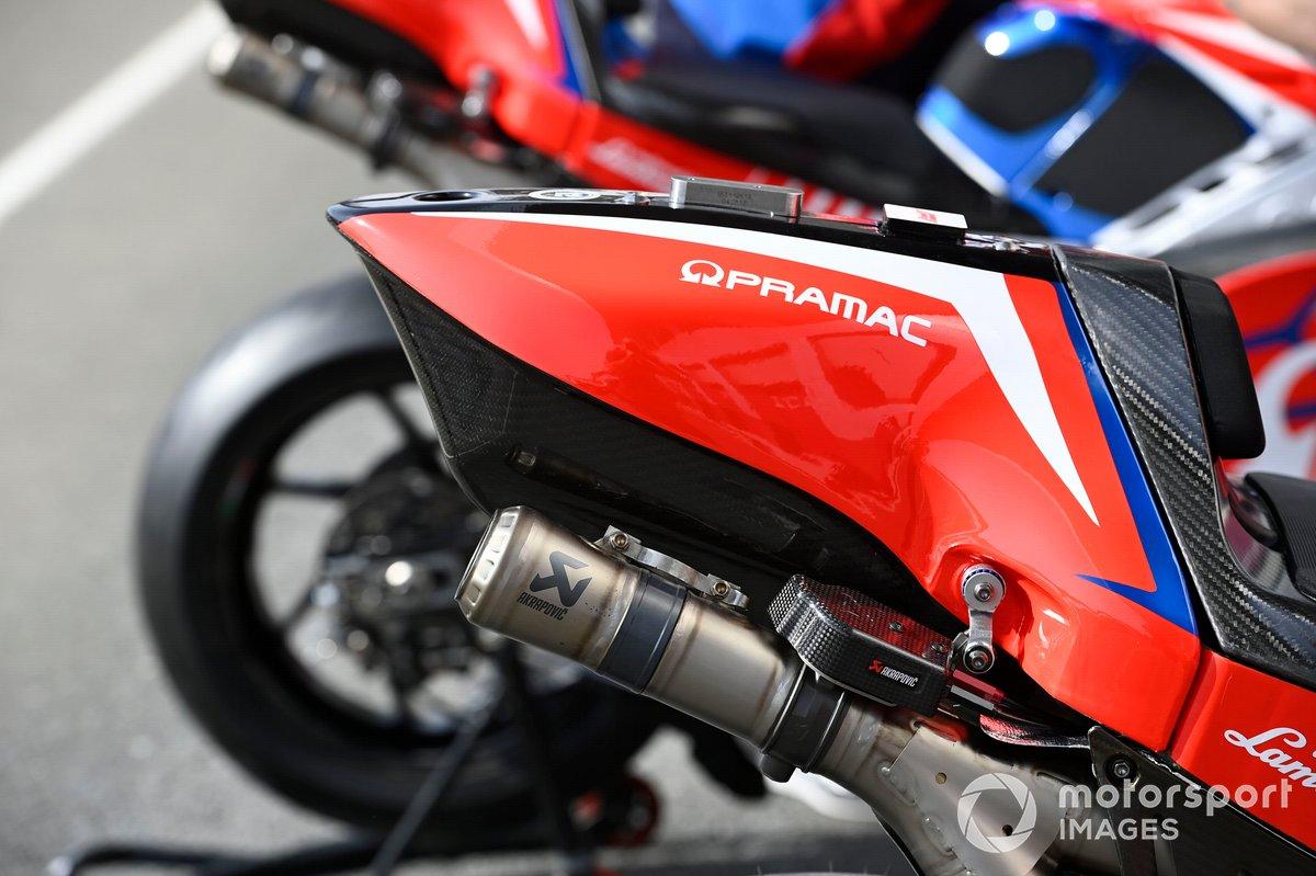 Detalle de la moto de Pramac Racing
