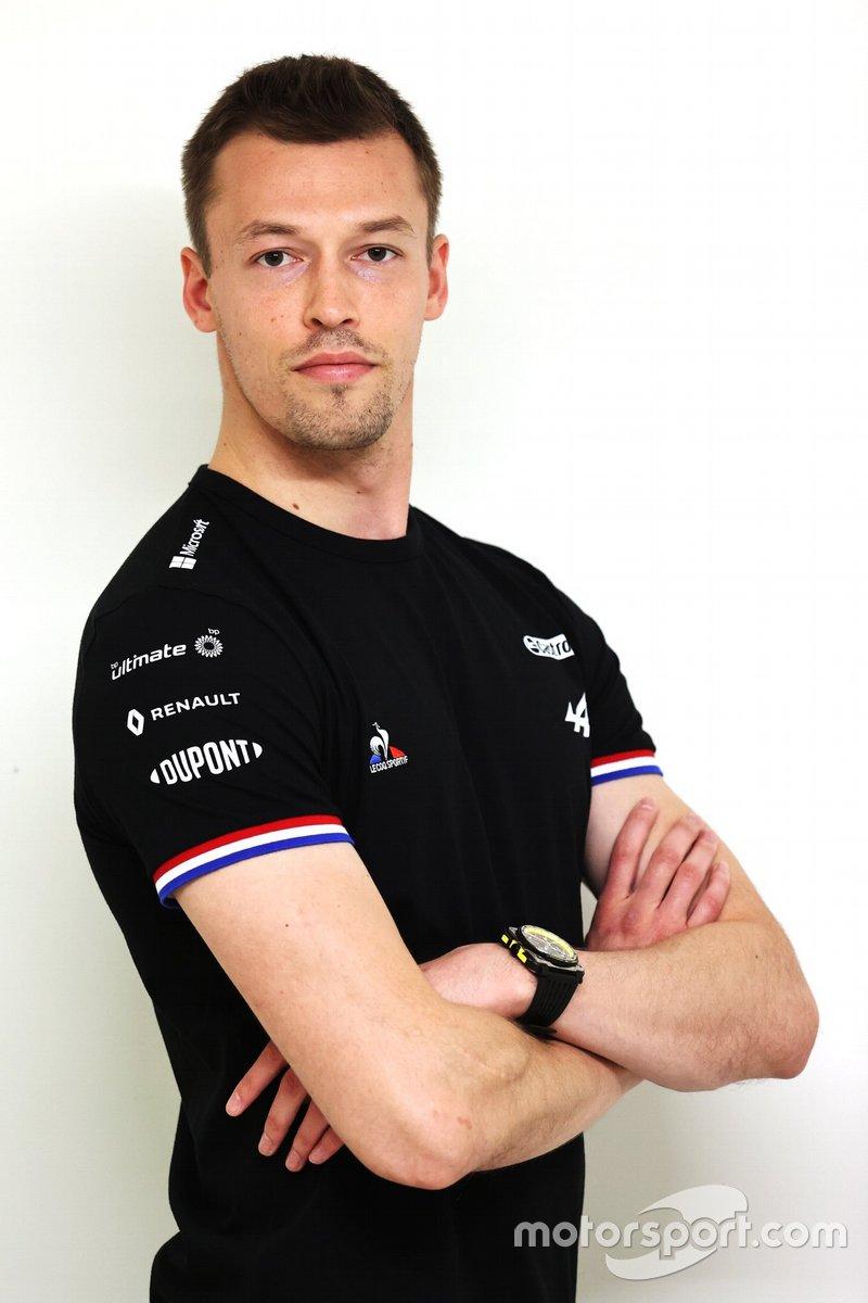 Daniil Kvyat, pilota di riserva del team Alpine F1