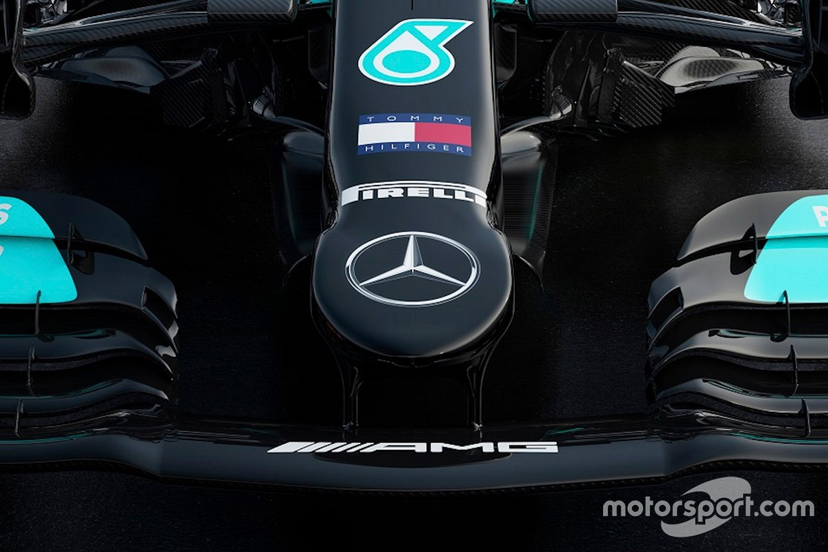 Mercedes AMG F1 W12 front nose detail