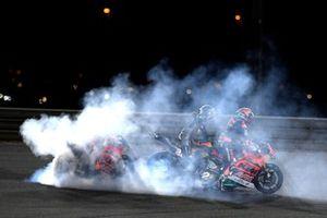 Raul Fernandez, Red Bull KTM Ajo Sam Lowes, Marc VDS Racing Team Remy Gardner, Red Bull KTM Ajo celebrate