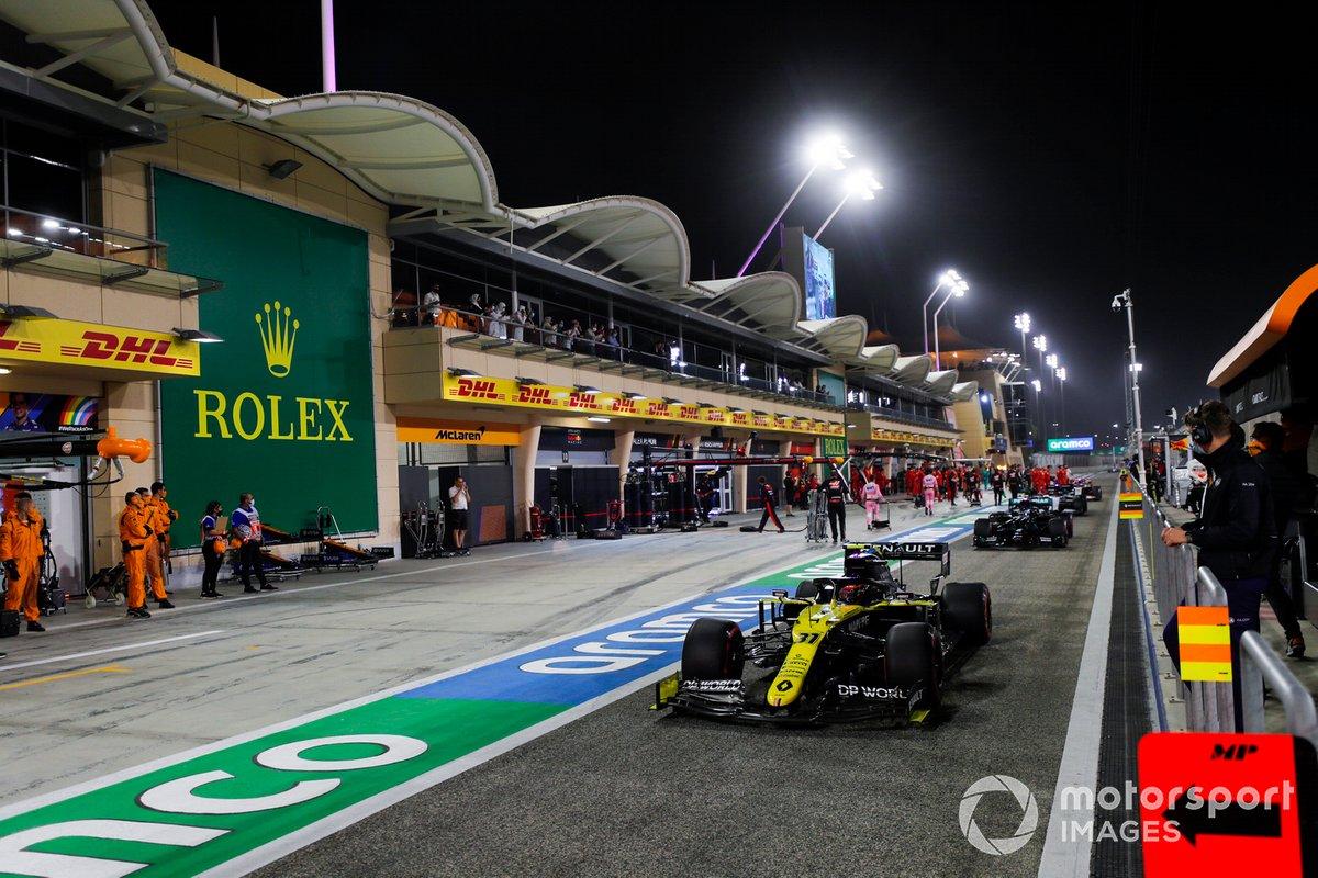 Esteban Ocon, Renault F1 Team R.S.20, sulla griglia