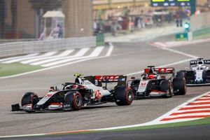 Kevin Magnussen, Haas VF-20, Pietro Fittipaldi, Haas F1 Haas VF-20, and Jack Aitken, Williams FW43