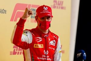 F2 Champion Mick Schumacher, Prema Racing celebrates in Parc Ferme