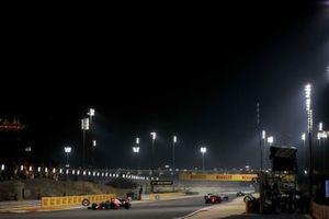Max Verstappen, Red Bull Racing RB16 and Charles Leclerc, Ferrari SF1000