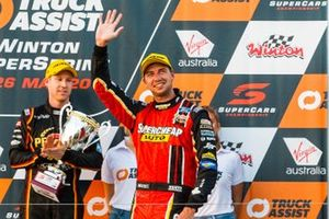 Podium: second place Chaz Mostert, Tickford Racing Ford