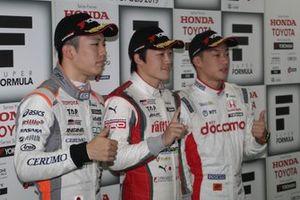 Yuji Kunimoto(KONDO RACING), Sho Tsuboi(JMS P.MU/CERUMO・INGING), Nirei Fukuzumi(DOCOMO TEAM DANDELION RACING)