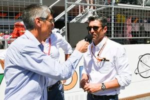 Patrick Dempsey is interviewed
