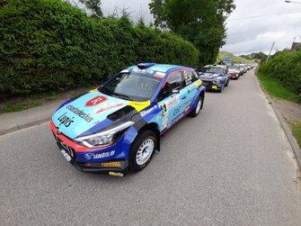 Jari Huttunen, Mikko Lukka, Hyundai i20 R5, FIA ERC, Rally Poland