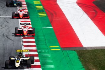 Max Fewtrell, ART Grand Prix and Marcus Armstrong, PREMA Racing