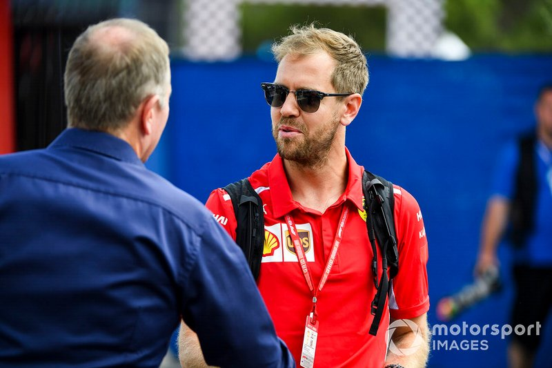 Martin Brundle, Sky TV e Sebastian Vettel, Ferrari