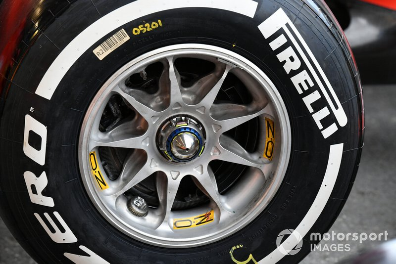 Pirelli tyre on Ferrari SF90