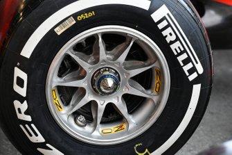 Pirelli tyre on Ferrari SF90