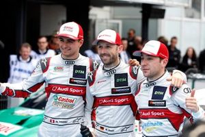 Yarış galibi René Rast, Audi Sport Team Rosberg ve Nico Müller, Audi Sport Team Abt Sportsline ve Robin Frijns, Audi Sport Team Abt Sportsline