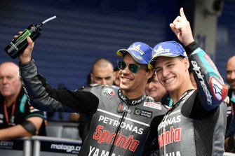 Polesitter Fabio Quartararo, Petronas Yamaha SRT, second place Franco Morbidelli, Petronas Yamaha SRT